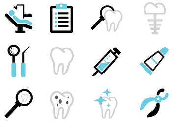 Dental Icon Free Vector - vector #421387 gratis