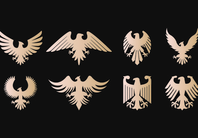 Eagle Seal Symbol Vectors - бесплатный vector #421487
