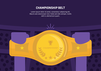 Championship Belt Background - Kostenloses vector #421497