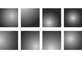 Set Of Grey Gradient Vectors - Free vector #421507