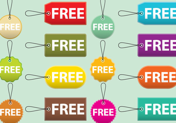 Free Labels and Tag Vectors - vector gratuit #421527