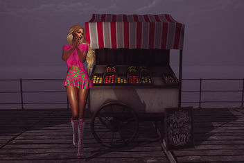 MadPea International Food Fair with Outfit Umaru by Riot & Farmers Market Cart by Chez moi - Free image #421647
