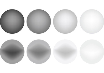 Free Grey Gradient Icons Vector - Free vector #421667
