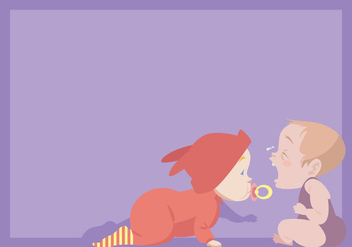 Crawling Baby and Crying Baby Vector - Free vector #421687