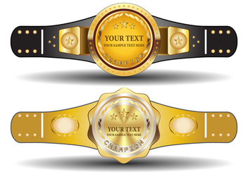 Championship Belt Template - Free vector #421707