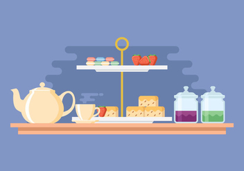 Afternoon Tea Party Illustration - vector gratuit #421857