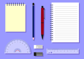 Stationary Block Notes Free Vector - vector gratuit #421877