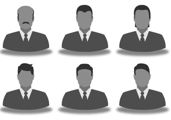 Business Man Icon Set - Free vector #421957