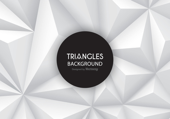 Grey Gradient Triangles Vector Background - бесплатный vector #421967