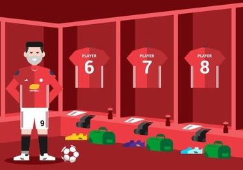 Soccer Dressing Room Background - vector #421997 gratis