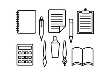 Free Stationary and Pen Vectors - Free vector #422007