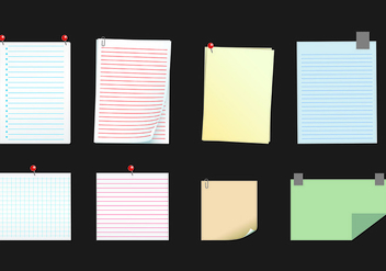 Paper Of Block Notes - Free vector #422017