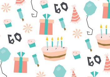 Sweet Birthday Pattern - vector gratuit #422077