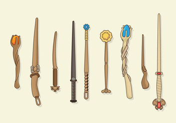 Magic Stick Collection Vector - Free vector #422097