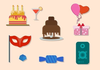 Flat Party Vectors - vector #422117 gratis