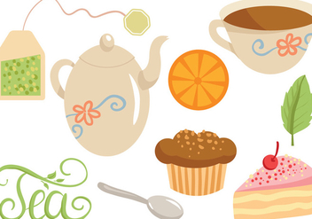 Free Tea Time Vectors - бесплатный vector #422137