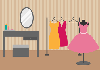 Free Dressing Room Vector Illustration - vector gratuit #422217