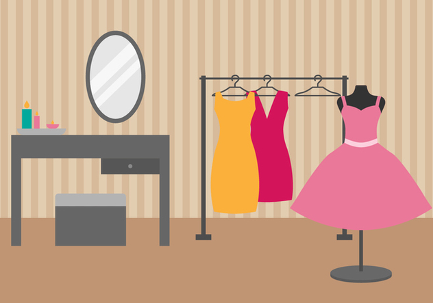 Free Dressing Room Vector Illustration - бесплатный vector #422217