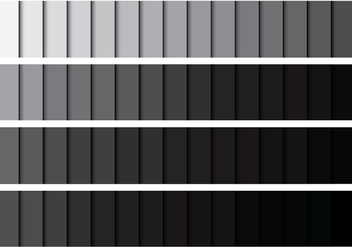 Grey Gradient Palette - бесплатный vector #422237