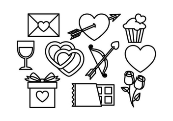 Free Valentines Icons Vector - vector #422277 gratis