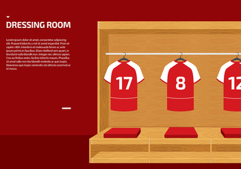 Dressing Room Sport Vector - Free vector #422337