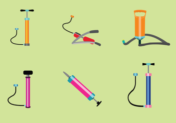 Air Pump Vector Set - бесплатный vector #422347