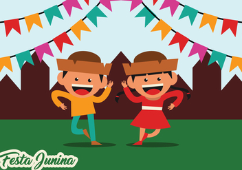 Festa Junina Party Vector - бесплатный vector #422377