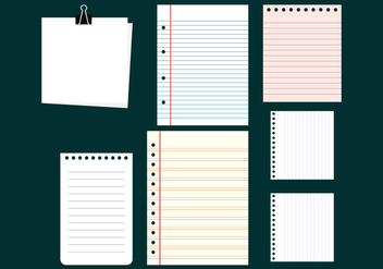 Blank Notes Collection Vectors - vector gratuit #422407