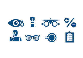 Simple Eye Doctor Tool Vectors - Free vector #422427