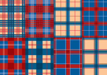 Flannel Red Blue Texture Vector - vector gratuit #422457