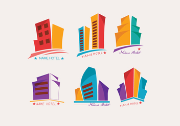 Logo Hotel Colorful Vector - бесплатный vector #422527