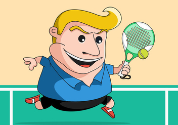 Squatty Tennis Player Vector - Free vector #422587