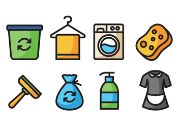 Cleaning Icons - vector #422637 gratis