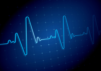 Heart Rate Blue Backgound Free Vector - vector #422657 gratis