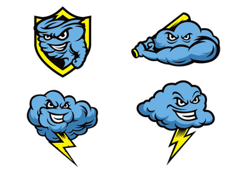 Free Storms Mascot Vector - Free vector #422747
