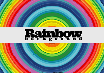 Rainbow Round Background - Vector - vector #422787 gratis