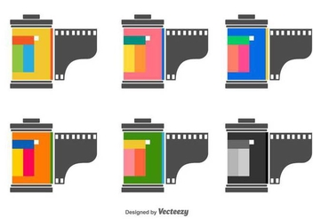 Film Canister Vector Icons - бесплатный vector #422857