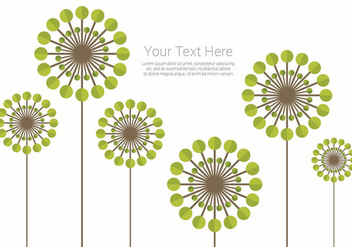 Simple Blowball Background - Kostenloses vector #422927