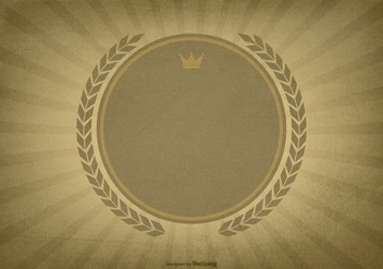 Textured Sunburst Background w/Blank Label - vector gratuit #422937
