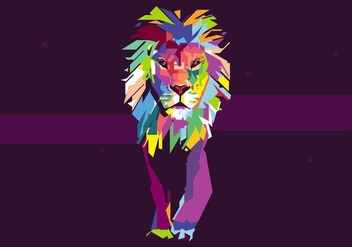 Lion Popart Portrait - Free vector #423007