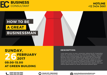 Business Seminar Poster Template Vector - vector #423027 gratis