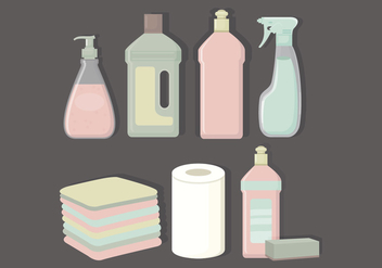Vector Collection of Cleaning Products - vector gratuit #423097