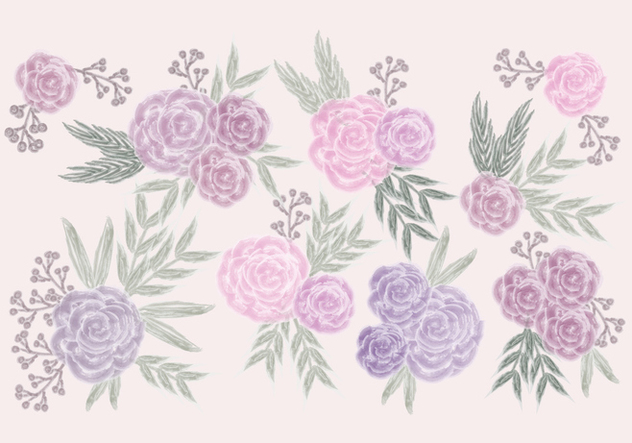 Vector Watercolor Roses - vector gratuit #423107