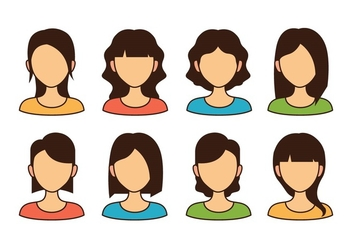 Woman Avatar Icons - vector #423157 gratis