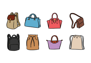 Bag Vector Pack - Free vector #423167