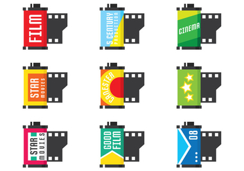Film Canister Set - vector gratuit #423207