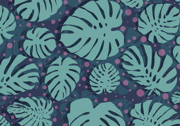 Polka Dotted Background Daun Vector - Free vector #423247