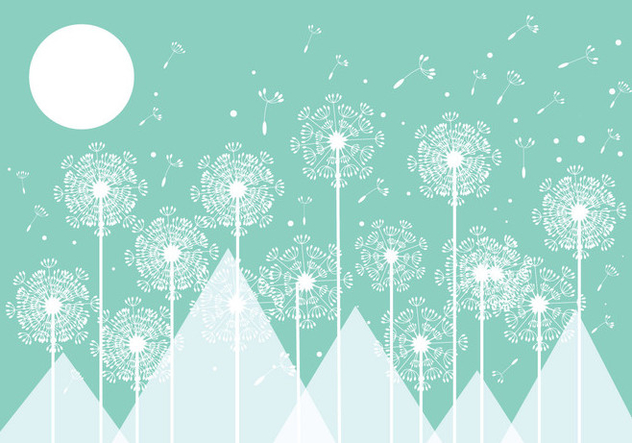 Mint Blowball Background Vector - бесплатный vector #423277