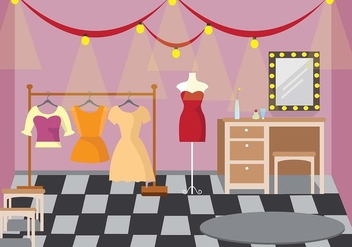 Theater Dressing Room Vector - бесплатный vector #423287