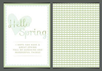 Vector Spring Greeting Card - vector gratuit #423337